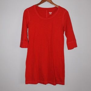 Fitted Red T-shirt Dress